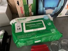 PACK OF 200X CLINELL UNIVERSAL WIPES