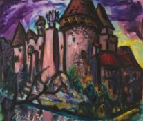 Heidenreichstein Castle (Lower Austria), 1979 Oil on canvas Signed and dated lower left 43,3 x 51,
