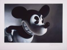 Mouse (Midnight Mickey - schwarz) Fine Art Print on Velin Signed lower right, numbered lower left: