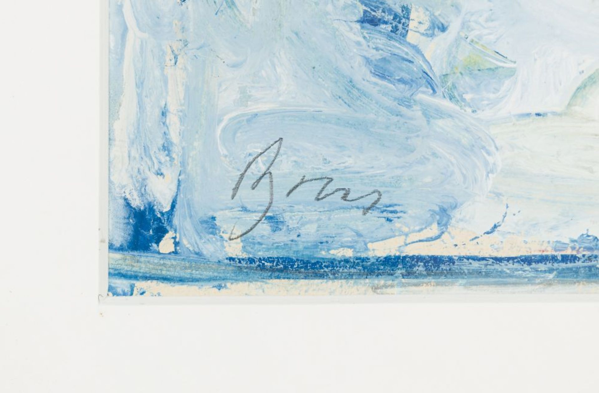 Thrush Gouache on Paper Signed lower left Passepartout Outcut unopened: 8,5 x 6,1 in framed - Image 3 of 3