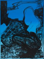 From: The Lonely Man's Duty is to be Even More Lonely, 1997 Colored Silk Screen Signed and dated