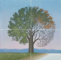 Four Seasons Colored aquatint etching Signed lower right, E.D.A. lower left Sheet Size: ca. 24,8 x