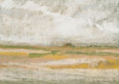 Wide Landscape, 1982 Pastel chalk on paper Signed and dated lower right Passepartout Outcut