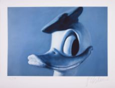 Donald Duck Fine Art Print on Velin Signed lower right, numbered lower left: 14/150 Sheet Size: 24,2