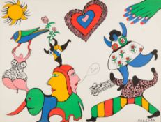 Je t'aime, 1971 Colored Lithograph Signed and dated in the stone 19,3 x 25,2 in