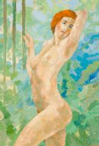 On the Trellis, 2009 Oil on canvas Signed and dated lower right 39,4 x 27,6 in framed Pictured in: