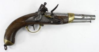 French 1822 pattern Military flintlock Pistol, Belgium made, Ottoman Turkish Contract, appro x16