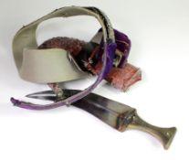 Arab 19th century Janbiya with belt
