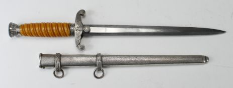German Nazi Army Dagger, with scabbard, no makers mark