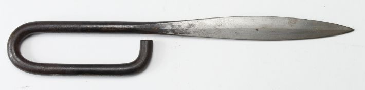French Nail Dagger for hand to hand trench fighting, all steel, with spear tip. (approx 270mm long)