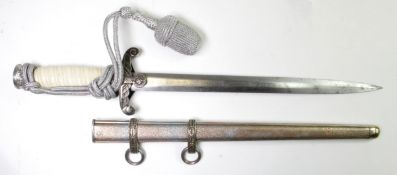 German Wehrmacht Officers dagger complete with scabbard, nickel plated, complete with portpee