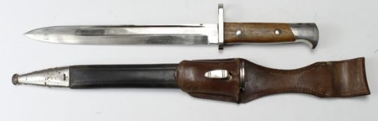 Bayonet - Mauser export bayonet possibly Czech, maker marked to Carl Eickhorn and Co Solingen. In