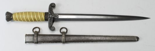 German Nazi Army Dagger, with scabbard, blade maker marked 'AWS Alcosa Solingen'.