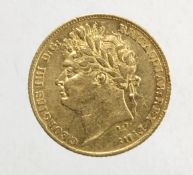 Half Sovereign 1824 VF+/aVF with a few contact marks obverse under magnification