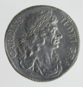 Crown 1663, white metal cast reproduction of the 'Petition Crown' S.3354A, VF