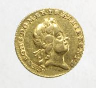 Quarter guinea 1718 better than VF with a couple of light scuffs on obverse under magnification