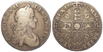 Crown 1668 Vicesimo, S.3357, F/GF