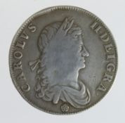 Crown 1662 rose below bust, S.3350, Fine but with portrait tooled (graffiti removal?)