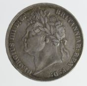Crown 1821 Secundo, S.3805, toned nVF, edge knock.