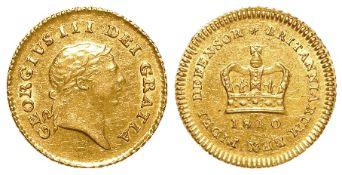 Third Guinea 1810, lightly cleaned nEF