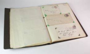 GB - Postal History collection c1843 to 1948 in binder, approx 125 items with about 50% addressed to