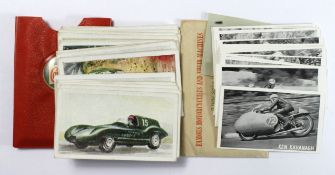 Castrol Oil sets, Famous Riders 1956, and Racing Cars 1955, both in original wallets, cat £180. VG-