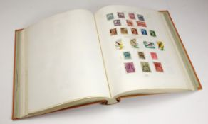 Albany album containing World stamps, better noted with extensive China. (qty)