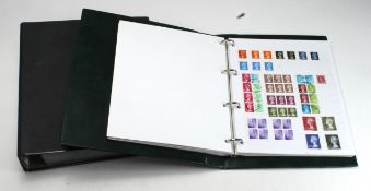 GB - all reigns collection in two binders, large album nearly all QE2 with a few dozen pre decimal