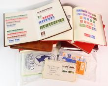 GB - plastic crate of mostly GB in various albums / stockbooks and a few loose. Stamps and