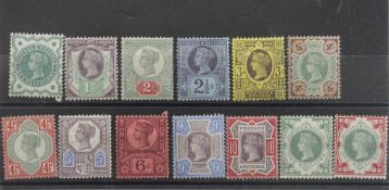GB - QV 1887 Jubilee mounted mint issues, half penny vermilion missing from the 2 issues. Good