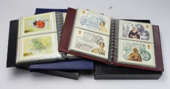 GB - collection consisting of 2x Plymouth Albums with mint stamps of QE2 from 1953 Coronation,