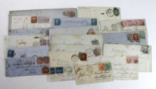 GB - Postal History selection including several fronts, various postmarks inc London double