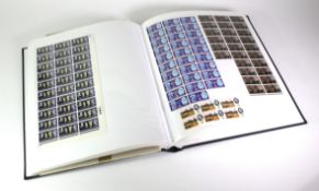 GB - unmounted mint pre decimal Commemoratives and Wildings in blocks of 4, to complete sheets.
