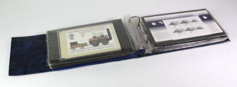 GB - blue binder of various GB items inc Presentation Packs (1965 Churchill, 1969 Ships - German,