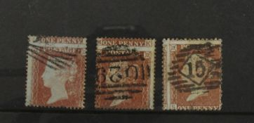 GB - QV Penny Reds, with misplaced perf errors. (3)