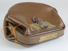 Night safe bag, Unbranded Leather night safe bag number 8 complete with 2 keys, good condition