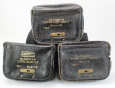 Night safe bags, Lloyds Bank Leather night safe bags (3), number AA5534, AA946 & D7677, the first