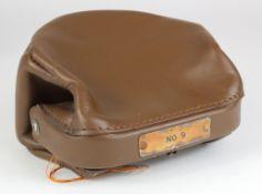 Night safe bag, Unbranded Leather night safe bag number 9 complete with 2 keys, good condition