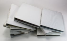 Assortment of used A4 size White Banknote albums (8) all with mixed sleeves