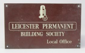 Leicester Permanent Building Society local office wall sign, lettering and design slightly raised,