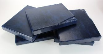 Albums, Banknote albums (5), good albums with slip cases, all with sleeves, Blue finish, used
