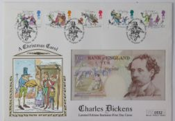 Kentfield First Day Covers (3), 10 Pounds signed Kentfield, Charles Dickens 'A Christmas Carol'