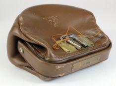 Night safe bag, Unbranded Leather night safe bag number 1 complete with 2 keys, good condition