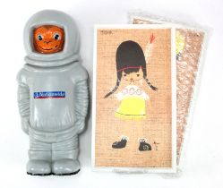 Money box (3), TSB plastic picture type money boxes (2) to be hung on wall, one depicts a girl,