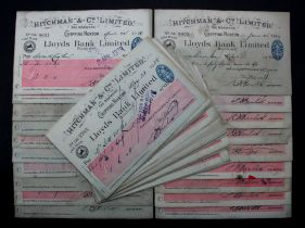 Cheques (46), a bundle of large Lloyds Bank Limited cheques, all Hitchman & Co. Limited, The