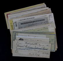 USA Cheques (135) a nice collection of USA cheques, mostly late 1800's and early 1900's, an
