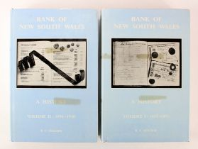 Books (2), Bank of New South Wales a History Volume I 1817 - 1893 and Volume II 1894 - 1970 by R.