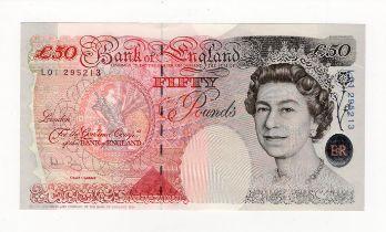 Bailey 50 Pounds issued 2006, rare FIRST RUN 'L01' prefix, serial L01 295213 (B404, Pick393a)