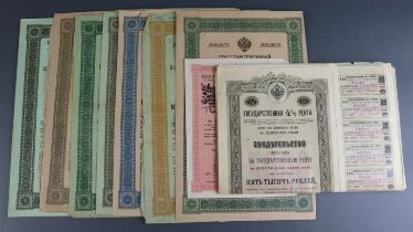 Bonds, a group of Bonds from Russia (15), some with vouchers still attached, a good group