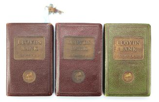 Money box (3), Lloyds Bank book design 2 without key and 1 with key